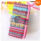Cute Animal Structure! Flip Wallet Case for iPhone  4 4S 4G   (color  7