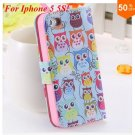 Cute Animal Structure! Flip Wallet Case for iPhone  5 5s 5g   (color 3