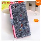Cute Animal Structure! Flip Wallet Case for iPhone  5 5s 5g   (color 4