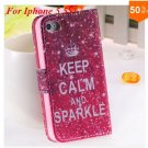 Cute Animal Structure! Flip Wallet Case for iPhone  5 5s 5g   (color 5