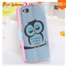 Cute Animal Structure! Flip Wallet Case for iPhone  5 5s 5g   (color 7