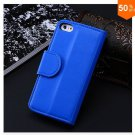 Photo Frame Flip PU Leather Cover Case For Iphone 5C With ID Credit Card Slots ( color 4