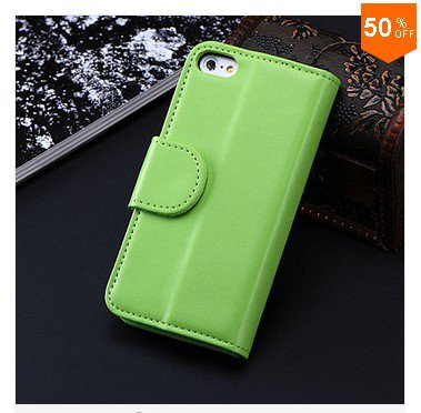 Photo Frame Flip PU Leather Cover Case For Iphone 5C With ID Credit Card Slots ( color 7