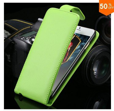 New Coming Flip  Case For Iphone 6   5.5''  PU Leather Phone Shell With Smart Buckle (color 4