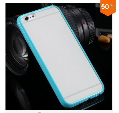 Mat PC + TPU Clear Case For Iphone 6 4.7'' Cover Transparent Back   (color 9