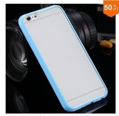 Mat PC + TPU Clear Case For Iphone 6 4.7'' Cover Transparent Back   (color 10
