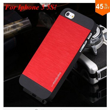 New! Luxury Metal Brush Case for iphone 5 5s 5g   (color 3
