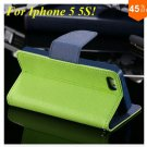 Wallet Book Style Case For Iphone 5 5s 5g ( color 1