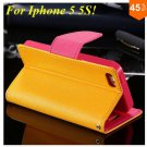Wallet Book Style Case For Iphone 5 5s 5g ( color 4