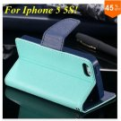 Wallet Book Style Case For Iphone 5 5s 5g ( color 6