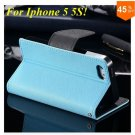 Wallet Book Style Case For Iphone 5 5s 5g ( color 7