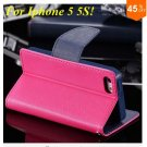 Wallet Book Style Case For Iphone 5 5s 5g ( color 8