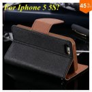 Wallet Book Style Case For Iphone 5 5s 5g ( color 11