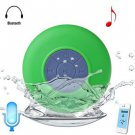 Water Resistant Bluetooth Shower Speaker with Sucker (green )