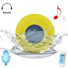 Water Resistant Bluetooth Shower Speaker with Sucker (yellow )