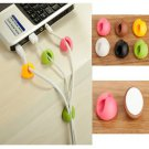 Multipurpose Plastic Wire Plug Adhesive Holder Cable Clips for Desktop Laptop