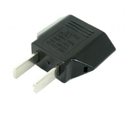 Europe Round To USA Flat Power Plug Converter Adapter