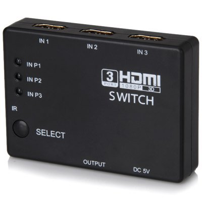 3 Ports HDMI Amplifier Mini Switcher Routes Compatible with HDMI 1.4