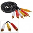 Applied 5M 15FT Gold 3 RCA To 3 RCA Audio AV Extension Cable