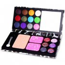 Multi-color Eyeshadow with Book Design Leather Clutch Bag