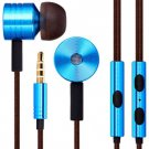 Earphone Headphone with Mic 3.5MM Jack 1.2M Canvas Cable Music Control for Mi Phone iPhone