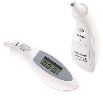 2.2 Inch TFT Cover Free Design Infrared Ear Thermometer ET-100B (White)