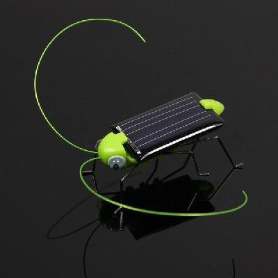 New Style Solar Power Robot Insect Bug Locust Grasshopper Toy kid - Black and Green