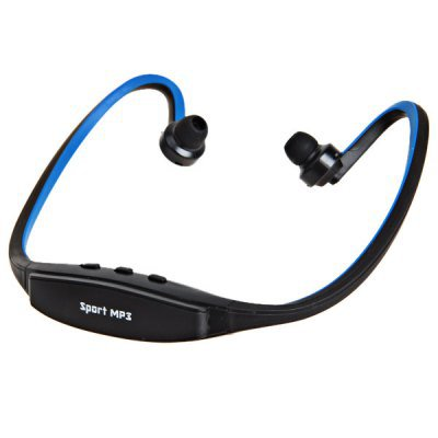 Wireless Headset Sport MP3 Music Player with TF Card Slot