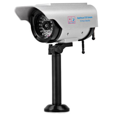 Solar/Battery Dual Power High Resemblance Dummy CCTV Security Camera with LED Blinking Light