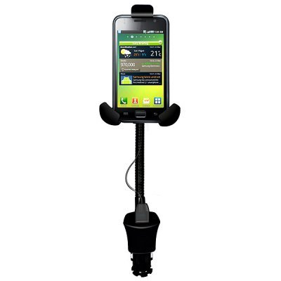 Adjustable Triple Claws 360 Degree Rotating Mobile Phone Support/Holder USB Recharged Car Charger