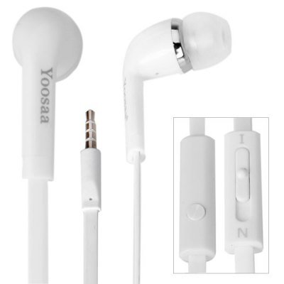 Yoosaa Noodle Style High Performance Earphone ( with Mic ) for iPhone , Samsung Galaxy S4 i9500