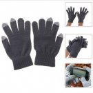 Convenient Gloves with Touchscreen-material in 3 Fingers for iPad Mini, iPhone 5/4S/4 etc (Gray)
