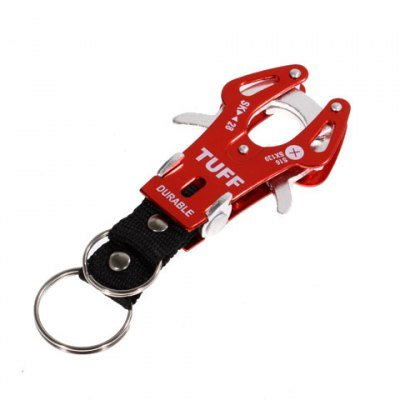 Red Portable and Functional Mountaineering Aluminum Alloy Tiger Buckle