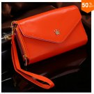 Pouch Wallet PU Leather Case for iphone 4s, 5s, 6 4.7inch, 5C, for Samsung Galaxy S3 S4 S5 (orange