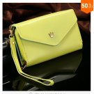 Pouch Wallet PU Leather Case for iphone 4s, 5s, 6 4.7inch, 5C, for Samsung Galaxy S3 S4 S5 (green