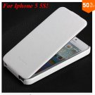 Luxury Retro Crazy Horse Cover for iphone 5 5S 5g Flip PU Leather Housing Vintage   (WHITE
