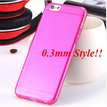 Super Flexible Clear Case For Iphone 6 4.7inch  ( COLOR THIN HOT PINK