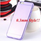 Super Flexible Clear Case For Iphone 6 4.7inch  ( COLOR THIN PURPLE