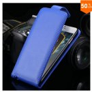 Flip Vertical Case For Iphone 6 5.5'' Plus Cover PU Leather  With Smart Buckle( COLOR  BLUE