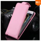 Flip Vertical Case For Iphone 6 5.5'' Plus Cover PU Leather  With Smart Buckle( COLOR  PINK