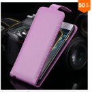 Flip Vertical Case For Iphone 6 5.5'' Plus Cover PU Leather  With Smart Buckle( COLOR PURPLE