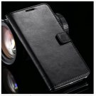 Crazy Horse Grain Full Wallet Case For Samsung Galaxy Note 4 IV 5.7''( COLOR BLACK