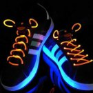 Halloween Party Unique Eye-catching Fashion LED Flashing Shoelaces for Night ( orange color