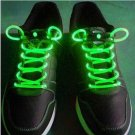 Halloween Party Unique Eye-catching Fashion LED Flashing Shoelaces for Night ( green color