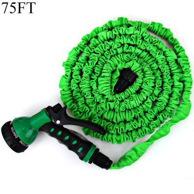 75FT Soft Garden Watering Tool Multifunctional Flexible Expandable Pocket Hose with 7-in-1 Spray Gun