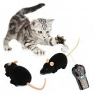 Interesting Electronic Remote Control Mouse Toy for Trick/Playing with Cat (Black)