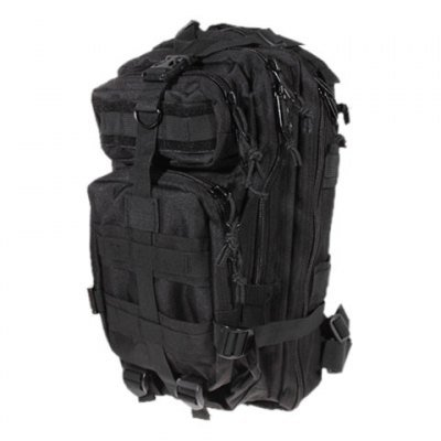Outdoor Military Travelling Waterproof 4 Compartments Backpack Bag with Waist Strap (Black)