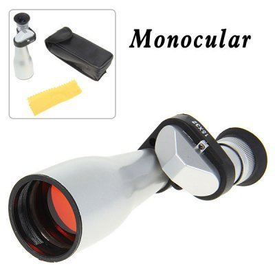 Pocket 15X 32mm Spotting Scope Monocular Telescope for Outdoor Sports - White
