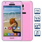 Unlocked Cell Phone  Dual SIM FM Bluetooth with 4.7 inch Resistive Touch Screen WiFi Analog TV( pink
