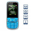 D900 1.8 inch Quad Band Cell Phone Dual SIM with Camera Torch Bluetooth( blue